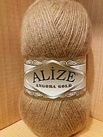 Зимняя пряжа (20% шерсть, 80% акрил; 100г/550м) Alize Angora Gold 127 (карамель)