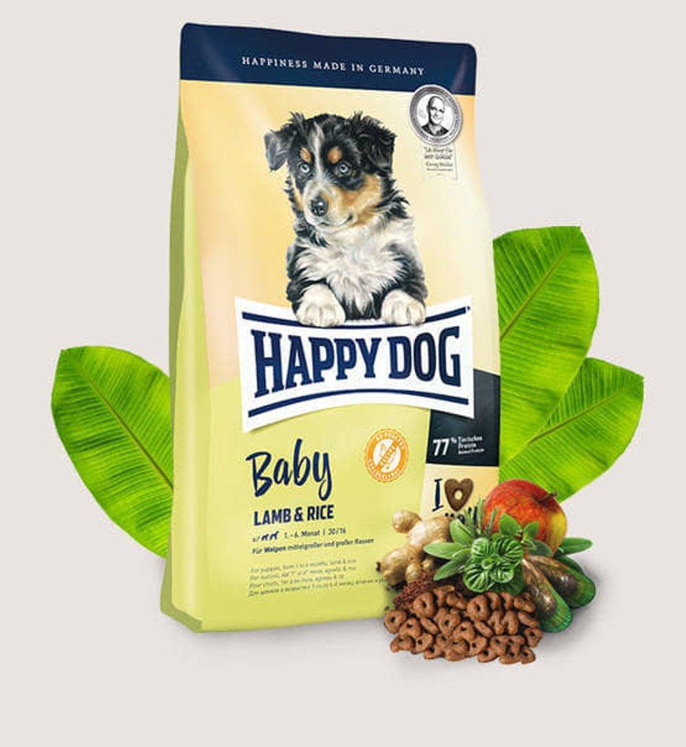 Happy Dog Supreme Baby Lamb & Rice - корм на онове ягненка для щенков с 1 месяца, 18 кг