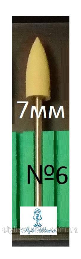 Полировщик силиконовый насадка фреза кукуруза оливка №6 для аппаратного педикюра и маникюра