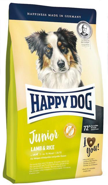 Happy Dog Junior Lamb & Rice - корм для щенков на основе ягненка, 10 кг
