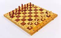 Шахматы, шашки, нарды деревянные размер доски 49 х 49 см.