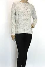Жіночий вязаний светр фрак молочний меланж, фото 2