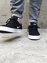 Кроссовки мужские черные Nike SB Clutch sketeboarding Black White (реплика), фото 2