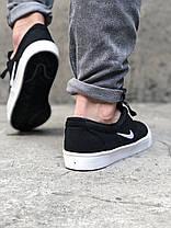 Кроссовки мужские черные Nike SB Clutch sketeboarding Black White (реплика), фото 3