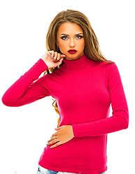 Однотонний жіночий гольф (рожевий)