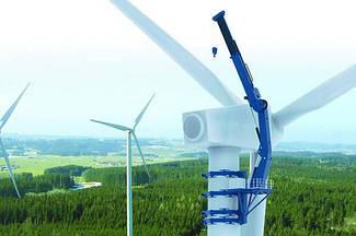 Самоподъемный кран для обслуживания ветрогенератора