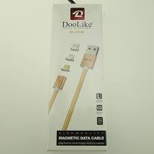 Кабель Doolike DL-CB 06 Магнитный 3в1 - gold (1 метр, (USB-lightning-microUSB-Type-C)