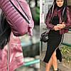 Женская стеганная куртка-косуха в расцветках. МА-3-0918, фото 2