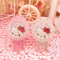 Часы наручные розовые Hello Kitty