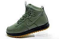 Зимние кроссовки на меху в стиле Nike Air Force 1 Winter, Green