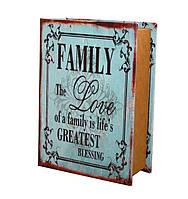 "Сейф-книга ""Family the love "" Размеры:  22-16-7 см"