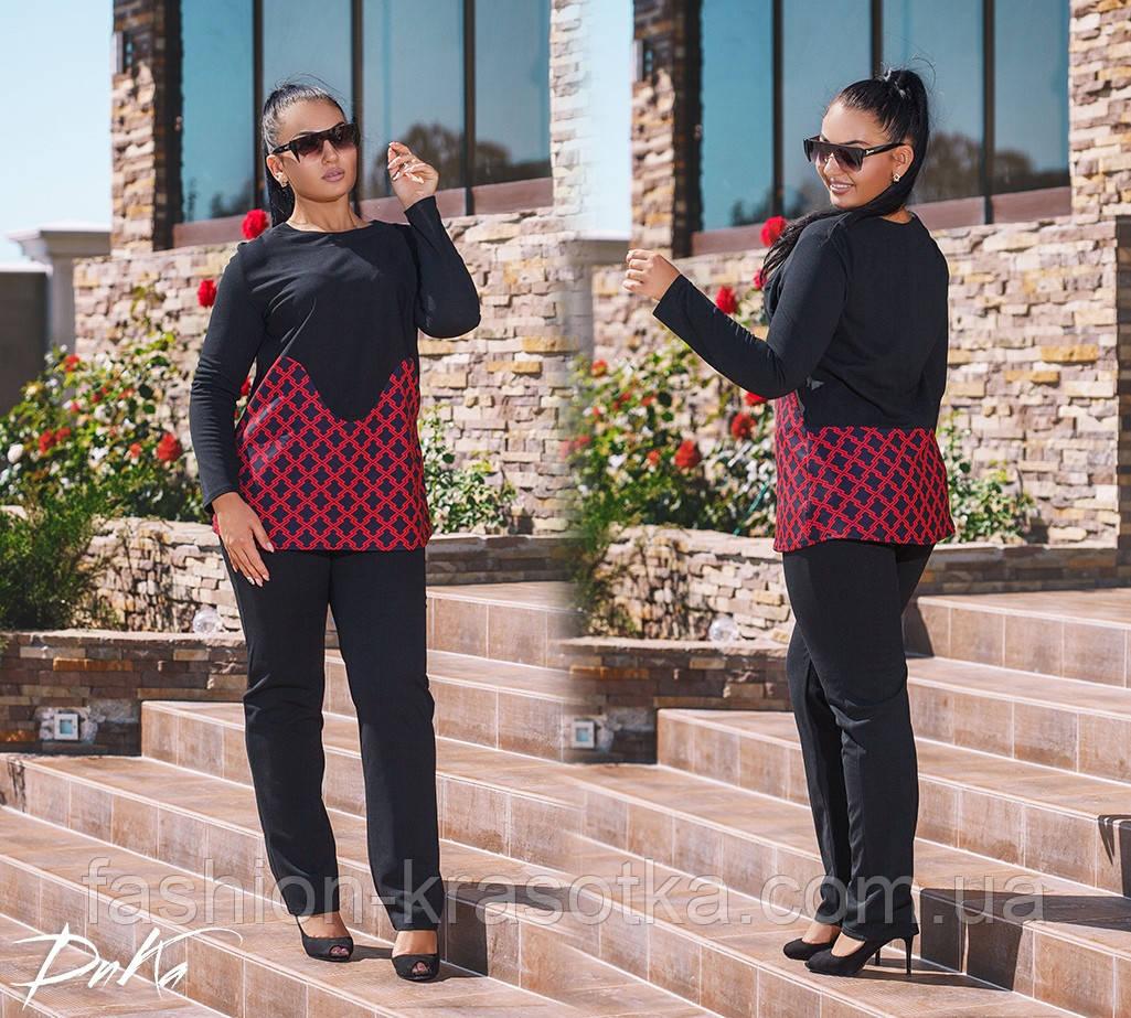 Модний жіночий костюм туніка і штани в розмірах 50-56