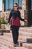 Модний жіночий костюм туніка і штани в розмірах 50-56, фото 2