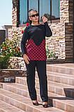 Модний жіночий костюм туніка і штани в розмірах 50-56, фото 3