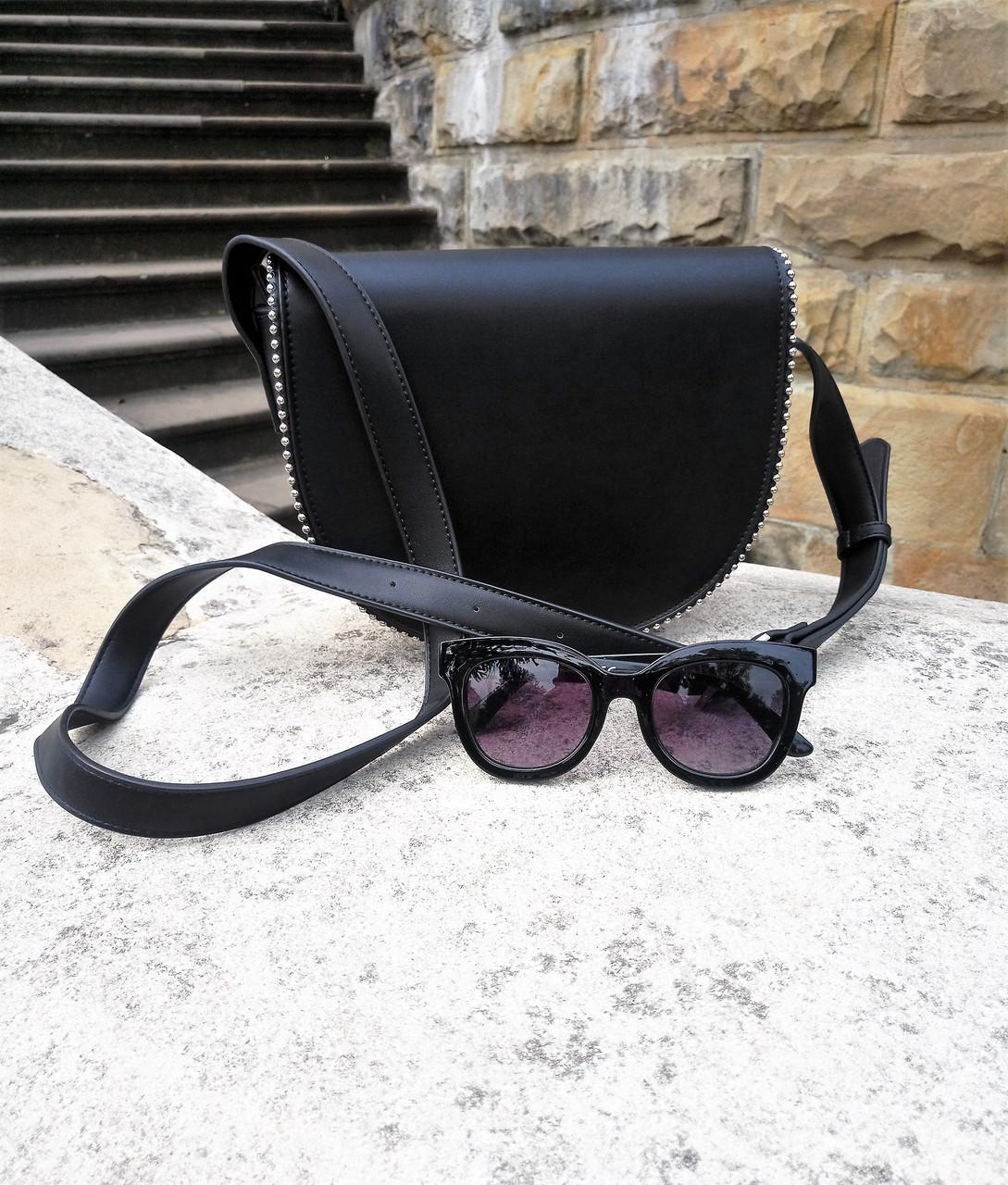 Женская сумка Reserved лимитированная коллекция цвет черный экокожа ... 7c24066d8a880