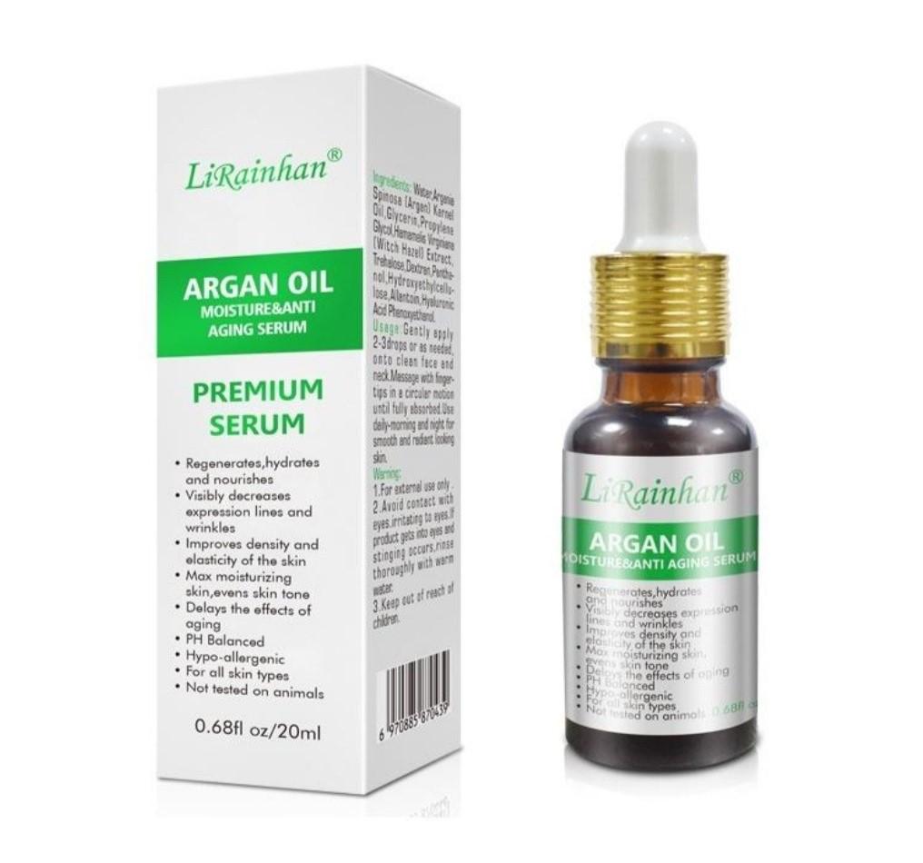 Высококонцентрированная сыворотка с гиалуроновой кислотой и аргановым маслом «LiRainhan» 20 ml.