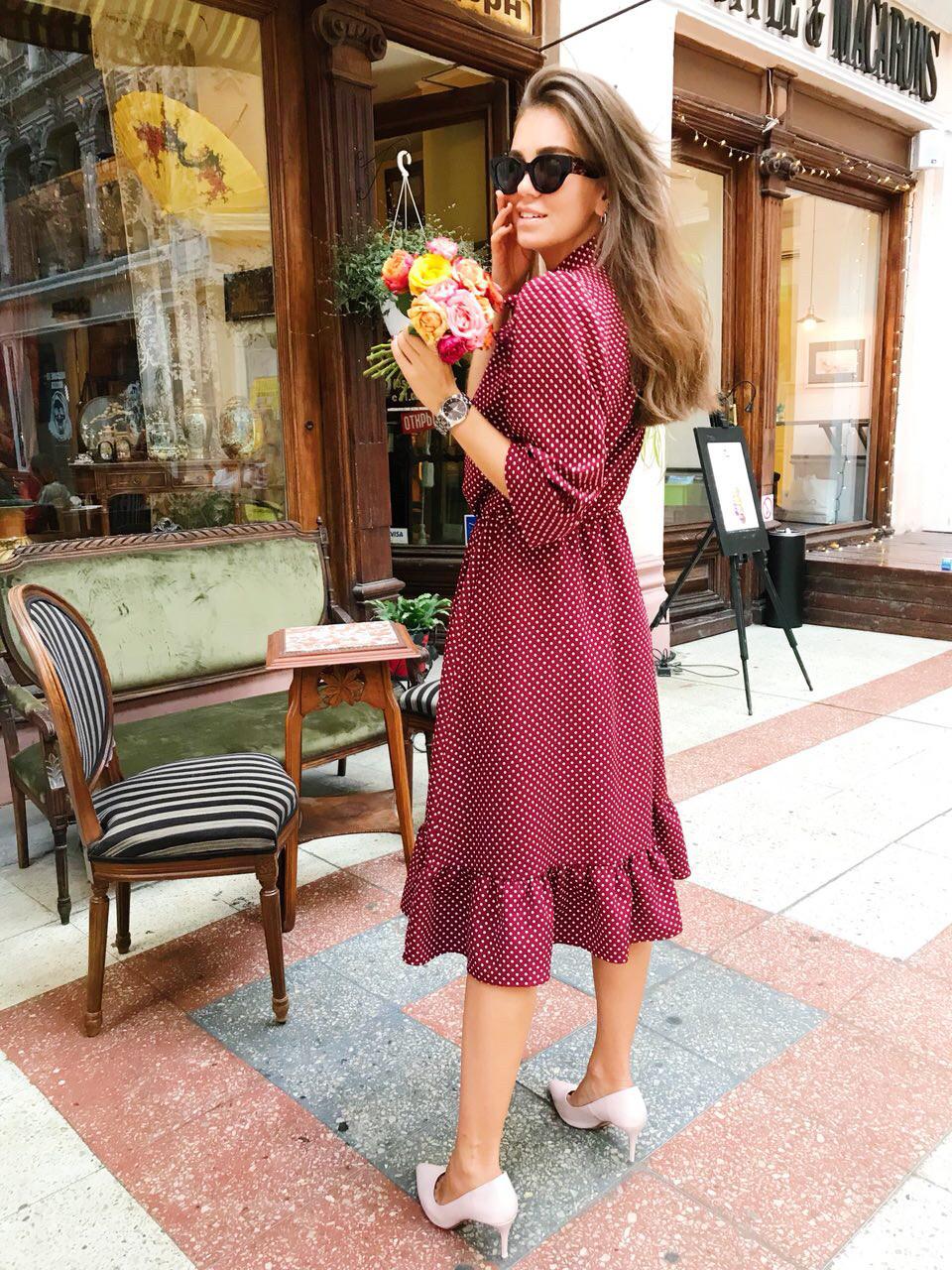 Женское трикотажное платье в расцветках