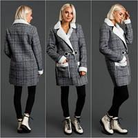 Удлиненная  женская куртка дубленка,пальто на меху.