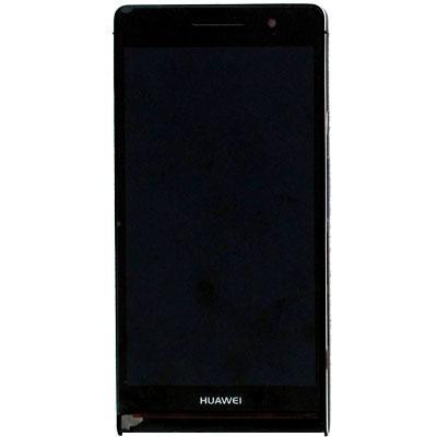 Дисплей для Huawei P6 (P6-U06) Ascend с тачскрином и рамкой черный Оригинал
