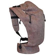 Льняний ерго рюкзак Basic Ромби