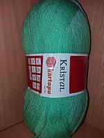 Акриловая пряжа(100%-акрил, 100г/450(900)м) Kartopu kristal 1558(зелёная мята)