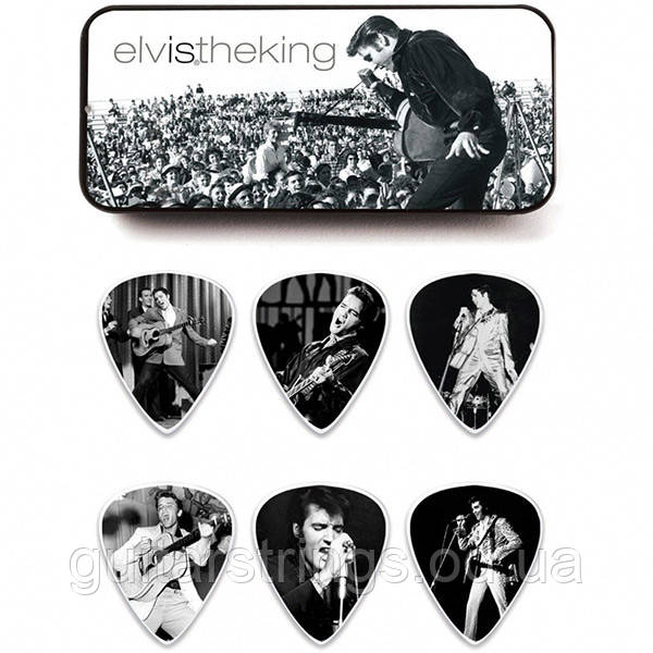 Набор Медиаторов Dunlop EPPT01 Elvis Presley Signature  6 pcs