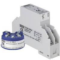 Аналоговый преобразователь температуры, конфигурируемый диапазон для термометров сопротивления Pt 100, монтаж в соединительную головку или на