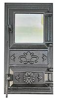 Дверца для печи и барбекю 470*280 мм, дверца печная со стеклом