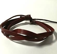 Браслет з еко шкіри, колір коричневий і його відтінки \ Sb - 0205