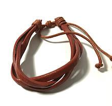 Браслет з еко шкіри, колір коричневий і його відтінки \ Sb - 0206