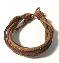 Браслет из эко кожи, цвет коричневый и его оттенки \ Sb - 0208