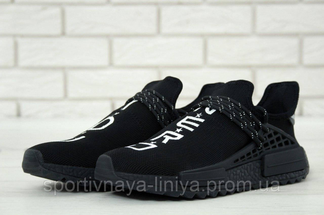 Кроссовки мужские черные Adidas x Pharrell Williams Human Race NMD (реплика)