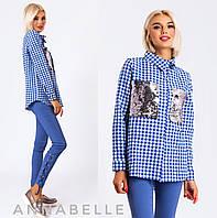 505abb95684 Рубашка женская в клетку оптом в категории блузки и туники женские в ...