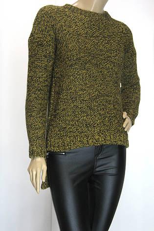 жіночий светр-фрак гірчичний меланж, фото 2