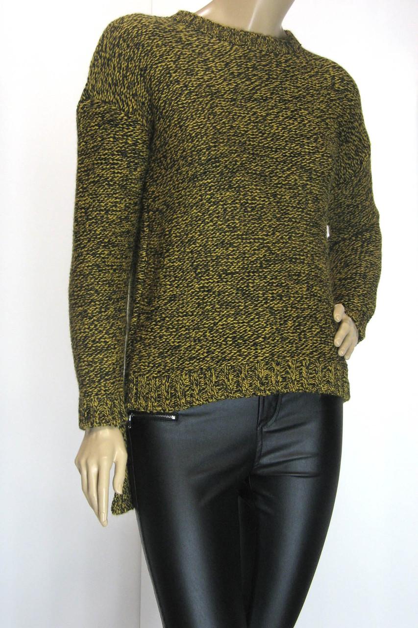 жіночий светр-фрак гірчичний меланж