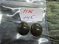 Кабошон камень моховый агат размер 10*12 мм комплект 2 штуки