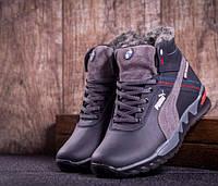 Подростковые кожаные зимние кроссовки Puma, размер 35-39, арт B-1 серый c8240690f2a