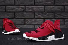 Кроссовки мужские красные Adidas x Pharrell Williams Human Race NMD (реплика), фото 2