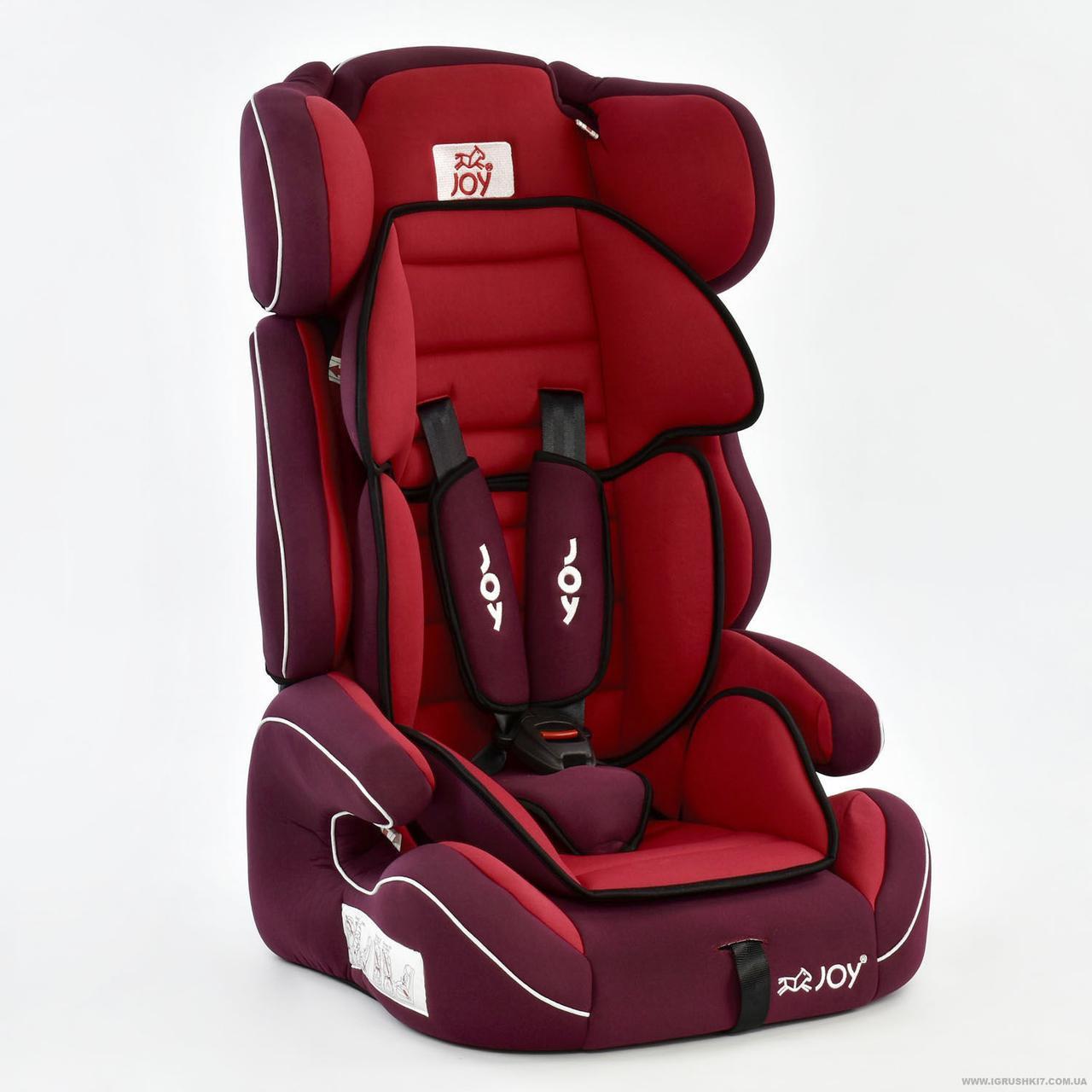 Автокресло универсальное Е 4327 (2) Цвет красный 9-36 кг Joy