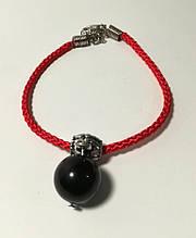 Браслет Червона нитка з підвіскою з Агата, браслет обереговий, колір червоний \ Sb - 0227