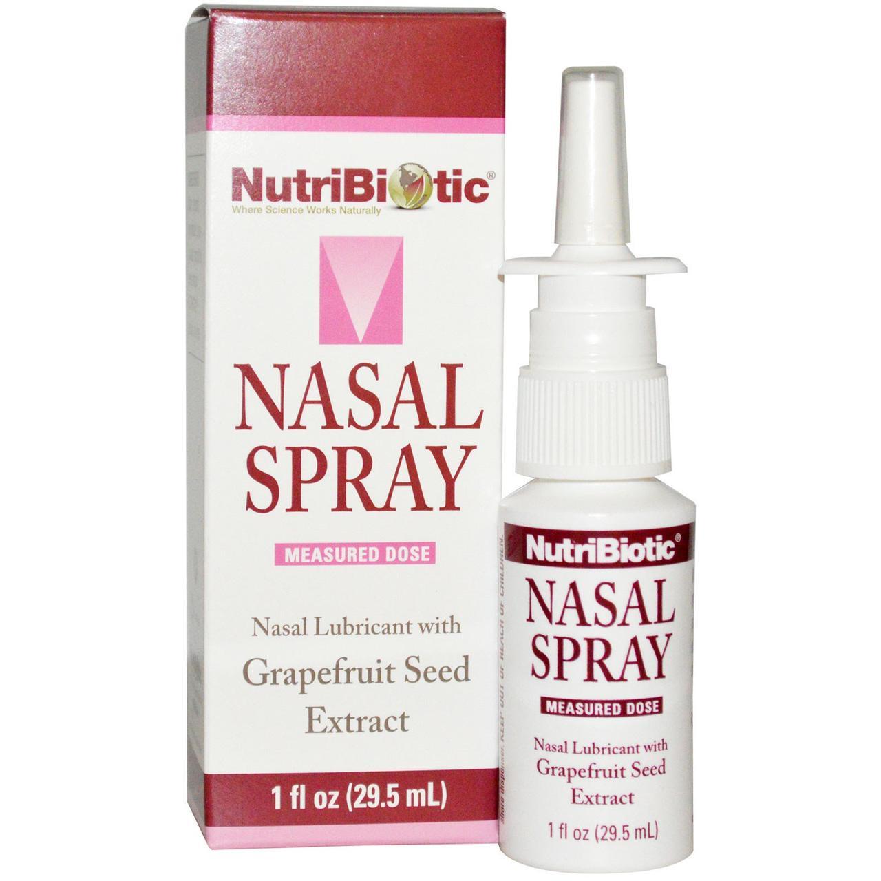 Назальный спрей, с экстрактом семян грейпфрута 29,5 мл, NutriBiotic