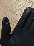 Замш+Замш с сенсором женские перчатки для работы на телефоне плоншете ANJELAстильные только оптом, фото 4
