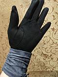 Замш+Замш с сенсором женские перчатки для работы на телефоне плоншете ANJELAстильные только оптом, фото 5