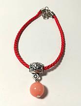 Браслет Червона нитка з підвіскою з намистини, браслет обереговий \ Sb - 0229