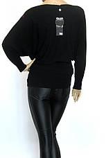 жіноча чорна нарядна кофта з стразами, фото 3