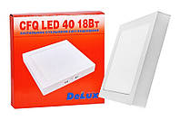 LED светильник DELUX CFQ LED 40 4100К 18 Вт 220В квадратный накладной