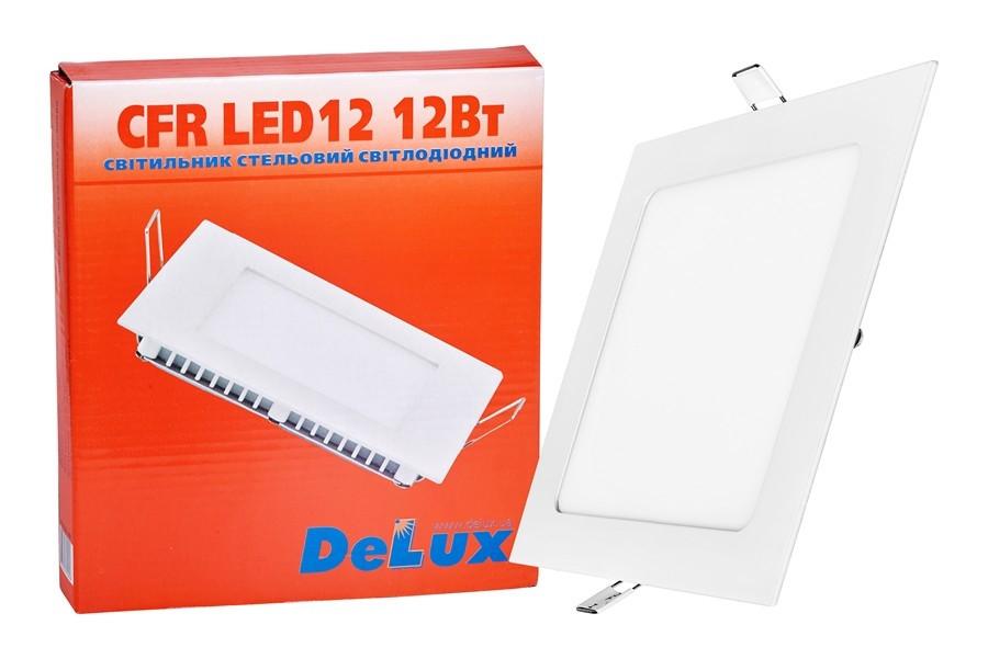 LED светильник DELUX CFR LED 12 4100К 12 Вт 220В встроенный квадратный