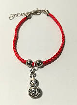 Браслет Червона нитка з підвіскою Достаток, браслет обереговий \ Sb - 0230