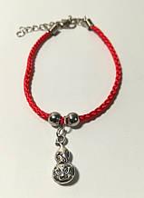 Браслет Красная нить с подвеской Достаток, браслет обереговый \ Sb - 0230