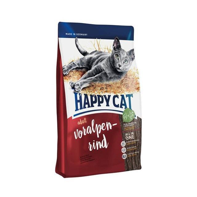 Happy Cat Voralpen Rind - сухой корм для кошек с говядиной, 4 кг